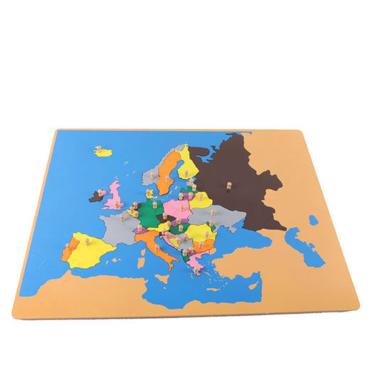 wooden montessori map